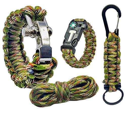 Pulsera supervivencia paracord 550 kit de supervivencia