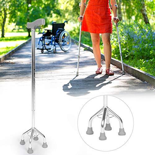Weiyiroty Bastón Resistente, bastón Plegable portátil Duradero Giratorio de 360 °, recuperación posoperatoria Infantil para Personas Mayores discapacitadas