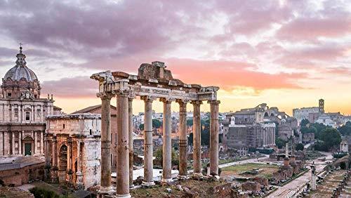CZYSKY Templo De Saturnonon En El Foro Romano, Roma, Italia, Rompecabezas De 35 Piezas Puzzle Juguete De Madera (15 * 9.9Cm)