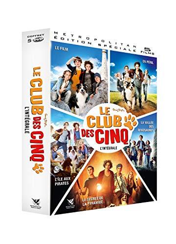 Cinq-L'Intégrale Film péril L'île des Pirates Secret de la Pyramide + Le Club des 5 et la vallée des Dinosaures