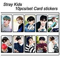 10ピース/セットストレイキッズKPOP写真カードステッカーアルバム粘着性接着剤kpopストレイキッズロモカード写真カードステッカーSKD00704