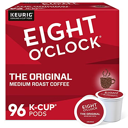 Eight O'Clock Coffee The Original, Single-Serve Keurig K-Cup Pods, Medium Roast Coffee Pods, 96 Count