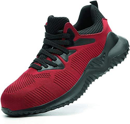 LBHH Zapatos de Trabajo Nuevos Botas de Seguridad de caña Baja,Puntera de Acero,Calzado de Seguridad Anti-Rotura y Anti-Perforaciones para los pies en Obras de construcción para Hombres