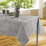 décorline nappe rectangle 140x240cm beton cire gris
