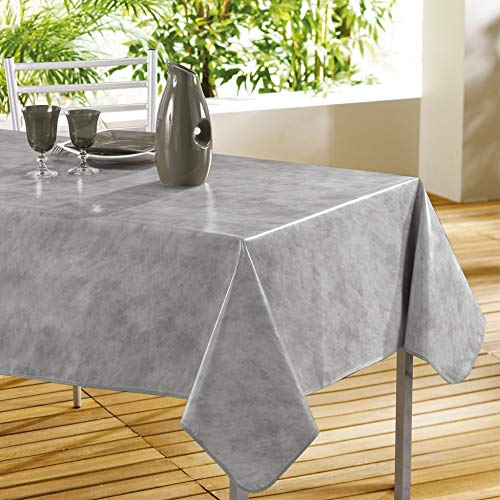 décorline nappe rectangle 140x240cm beton cire gris