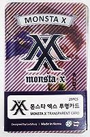 モンスタエックス MONSTA X - TRANSPARENT PHOTO CARDS 透明フォトカード 25pcs [韓国盤] [並行輸入品]