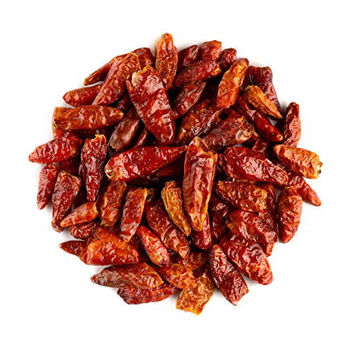Cayennepeper Geheel Bio Pepper Specerij - Pikant Heet - Gedroogde Rode Cayenne Pepers - Rode Cayene - Cayena - Cheyennepepers 100g