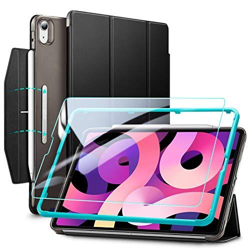 """ESR Trifold Case Set per iPad Air 4 (2020) 10.9""""[Include la Protezione per Lo Schermo] [Auto Sleep/Wake] [Supporto e Ricarica Wireless per Pencil 2] Serie Ascend – Nero"""