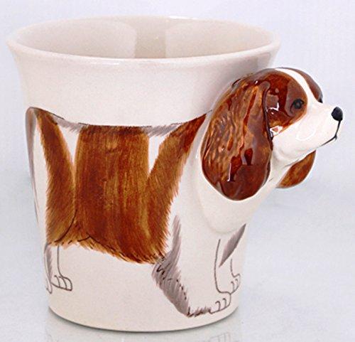 b2see Cavalier King Charles Hund-e-Tasse Tier Tasse-3d-mit-Hund-emotiv Hunde-Kopf-Bild 14 x 15 x 10 cm