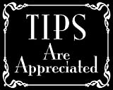 Black Tips are Appreciated Sticker (Cafe bar Bartender jar Accept)