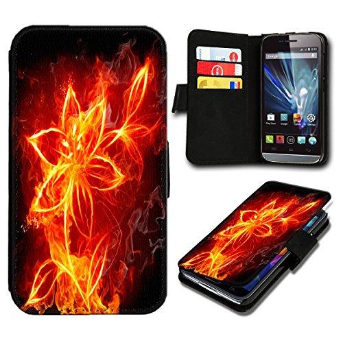 sw-mobile-shop Book Style Wiko Fizz Premium PU-Leder Tasche Flip Brieftasche Handy Hülle mit Kartenfächer für Wiko Fizz - Design Flip SB483