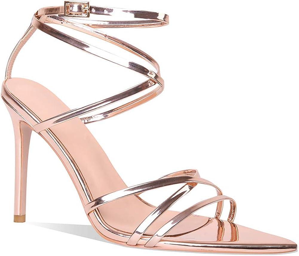 Women Ankle Cross Strap High Heels Sandals Gladiator Stiletto Pumps