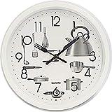 Deltabrinca Quartz Reloj de Pared 25cm. - Cocina (Blanco)