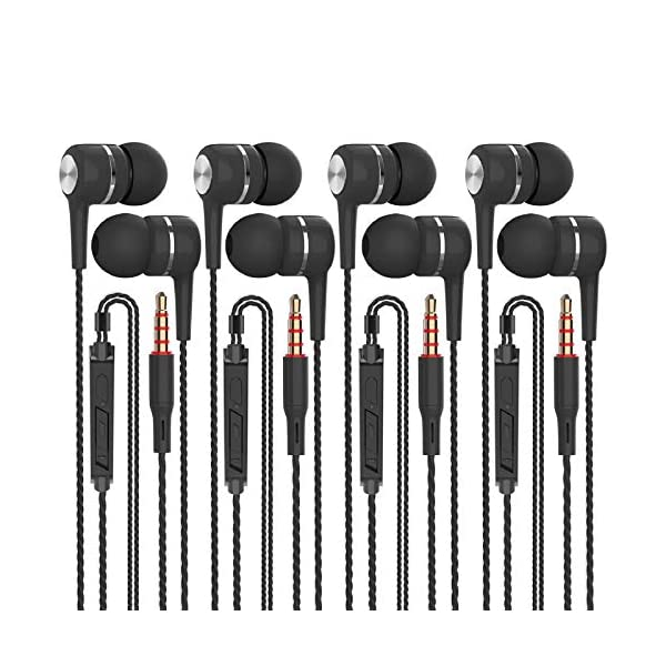 A12 Headphones Earphones Wired Earbuds with Microphone, Noise Islating, High Definition,...