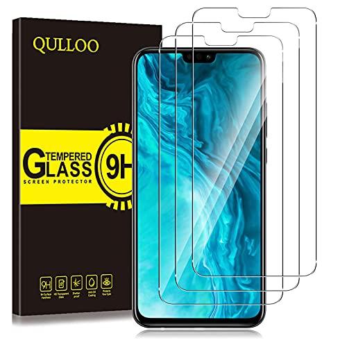 QULLOO Panzerglas für Huawei Honor 9X Lite, 9H Hartglas Schutzfolie HD Bildschirmschutzfolie Anti-Kratzen Panzerglasfolie Handy Glas Folie für Huawei Honor 9X Lite