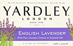 Naturally moisturizing bar Crafted with authentic lavender extracts & oils. Calms & soothes Since 1770, the house of Yardley London has created fine luxury soaps worthy of royalty Melt away stress with rich, soothing lather Leaves your skin feeling s...