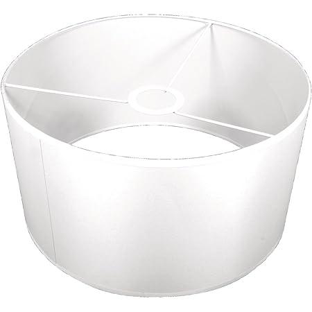 """Rayher abat jour lampe rond €"""" abat jour suspension pour lampe de plafond €"""" abat jour blanc aussi pour créer des lampes personnalisées €"""" 30 cm diamètre x 16 cm hauteur €"""" polyester blanc"""