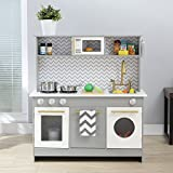 Teamson Kids - Little Chef Berlin Modern Play Kitchen - Gray / White