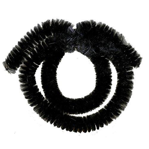 Markenlos Nabenputzring Ø 14 mm aus Chenille Länge 19/35 mm schwarz oder grau (Schwarz)