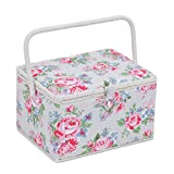 Large Sewing Box / Organiser - Rose (floral) | HobbyGift MRL\443 | 24x31x20cm