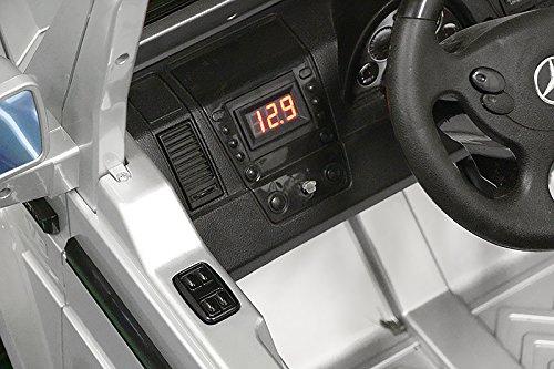 RC Auto kaufen Kinderauto Bild 4: Lizenz Kinderfahrzeug Mercedes Benz G55 AMG Jeep SUV mit 2x 35W Motor Kinderauto Elektroauto Fernbedienung MP3 Anschluss in Schwarz*