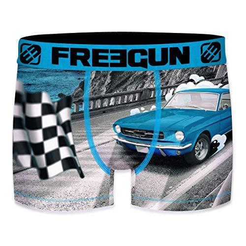 FREEGUN Herren Boxershorts Blue Mustang Finish Gr. S, Mehrfarbig