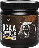 nu3 BCAA en polvo - 400g de aminoácidos ramificados con sabor iced tea - Proporción óptima de leucina, isoleucina y valina 2:1:1 - Suplemento deportivos para musculación - Nutrición deportiva vegana