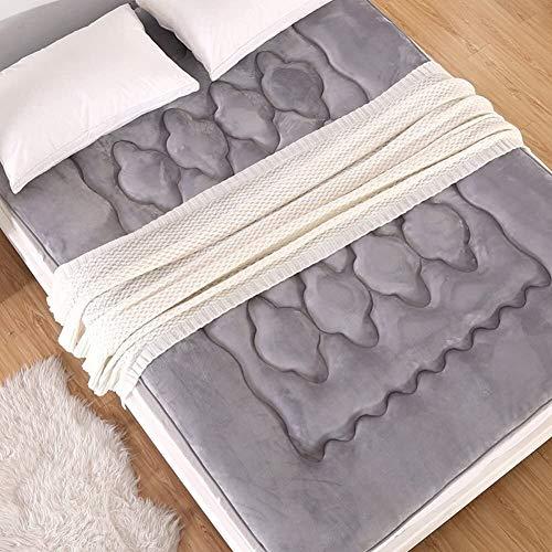WJMLS Japonés Engrosada, Colchones De Futón Plegables Portátiles Colchón Colchon futon Dormir Mat Respirable Tatami para Piso Colchón para Dormitorio Dormitorio (Color : A, Size : 90X200CM)