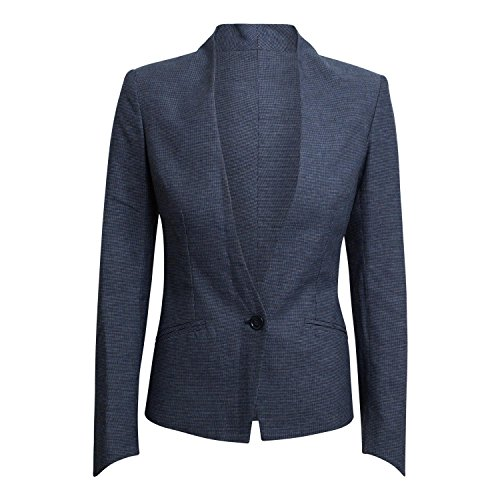 Imperial Damen Blazer Rau Farbe Blu/Bianco (M)