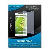 SWIDO Schutzfolie für Motorola Moto X Play Dual SIM [2 Stück] Kristall-Klar, Hoher Festigkeitgrad, Schutz vor Öl, Staub & Kratzer/Glasfolie, Bildschirmschutz, Bildschirmschutzfolie, Panzerglas-Folie