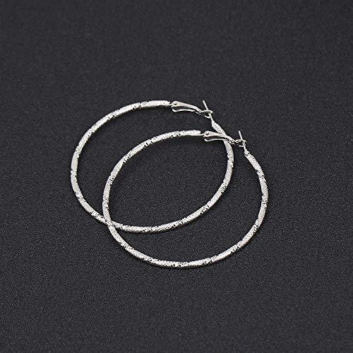 HoopsEarringsForWomen,Silver Vintage Punk Frosted Big Hoop Pierced Earrings Hypoallergenic Lightweight Hoop Ring Circle Jewelry Earrings For Women Girls Party Wedding