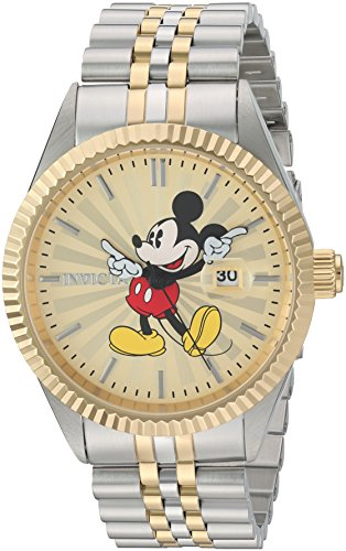 Invicta Men's Disney Limited Edition Mickey Mouse 43mm Stainless Steel Quartz Watch, Two Tone (Model: 22772)