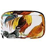 Bolsas de cosméticos para gallina y gallo de granja de animales prácticos neceser bolsa de viaje Oragniser bolsa de maquillaje para mujeres y niñas