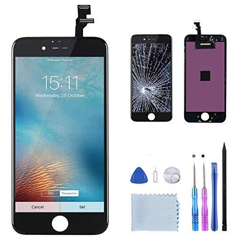 Beefix Display Kompatibel Für iPhone 6 Schwarz LCD Bildschirm iPhone 6 Display Ersatz Für Touchscreen Glas Reparaturset Ersatz Einschließlich Kostenlose Werkzeug