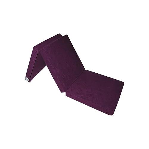 Matelas lit futon pliable pliant 195 x 65 x 10 cm (1224-Violet)