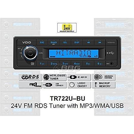 Vdo 24 Volt Lkw Radio Rds Tuner Mp3 Wma Usb Truck Elektronik