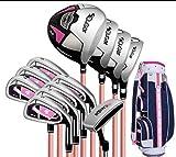 FORIDE Juego completo de palos de golf para diestros con palos de golf y bolsa de soporte para mujeres y principiantes (bolsa estándar de 12 ejes de carbono)
