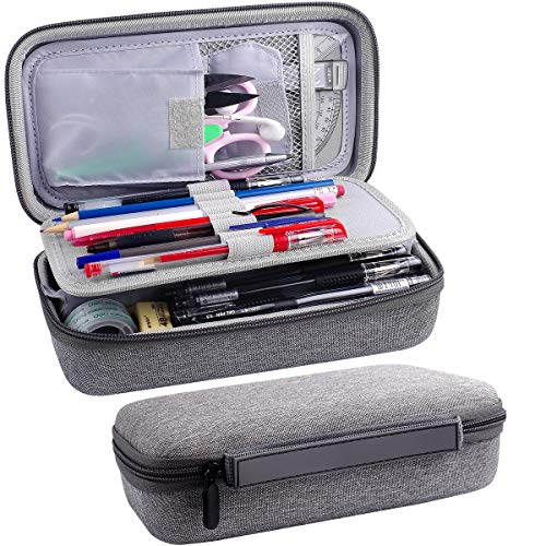 Pencil Organizer Case Big Colored Pencils Storage, Pencil Marker Sationery Holder Bag Pouch for School and Office(Box Only)
