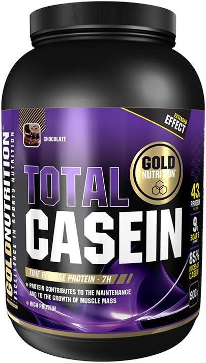 Goldnutrition Total Whey Caseina 900g, Chocolate, Efecto Anti Catabólico