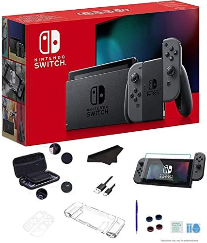 Newest Nintendo Switch 32GB Console with Gray Joy Con 6 2 Multi Touch 1280x720 Display WiFi product image