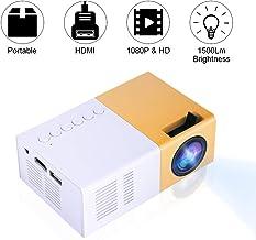 Bewinner Proyector Mini LED, Proyector LED Portátil HD
