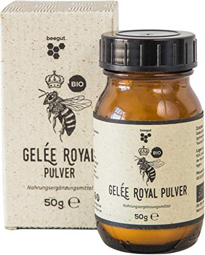beegut BIO Gelée Royal Pulver, 50g gefriergetrocknetes BIO Gelee Royal (royal jelly), lange haltbar ohne Kühlung
