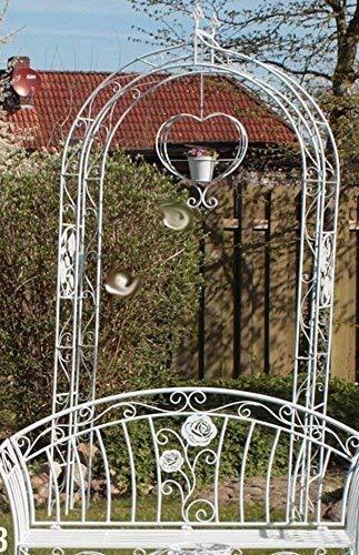 Romantik Rosenbogen 'Rose', Landhaus Rosenbogen Eisen Weiß