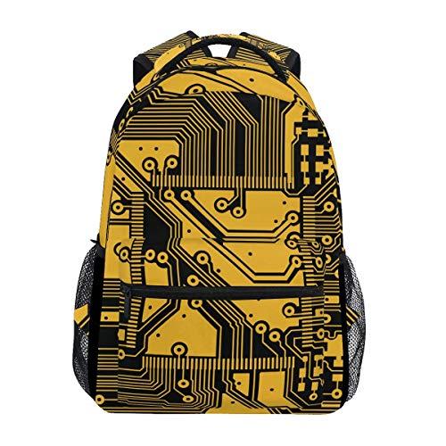 LNLN Circuit Board Line Backpacks College School Book Bag Travel Hiking Camping Daypack