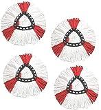 SheAWA Lot de 4 têtes de serpillère en microfibre de rechange pour balai à franges pivotantes EasyWring O-cedar 360