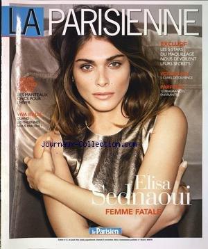 PARISIENNE (LA) [No 2] du 03/11/2012 - ELISA SEDNAOUI FEMME FATALE - LES 5 STARS DU MAQUILLAGE NOUS DEVOILENT LEURS SECRETS - VOYAGES ZEN - 5 CURES DE JOUVENCE - 12 FRAGRANCE ENIVRANTES - MODE GRAND FROID - DES MANTEAUX CHICS POUR L'HIVER - VIVA ITALIA - QUAND LES ITALIENNES NOUS PARLENT