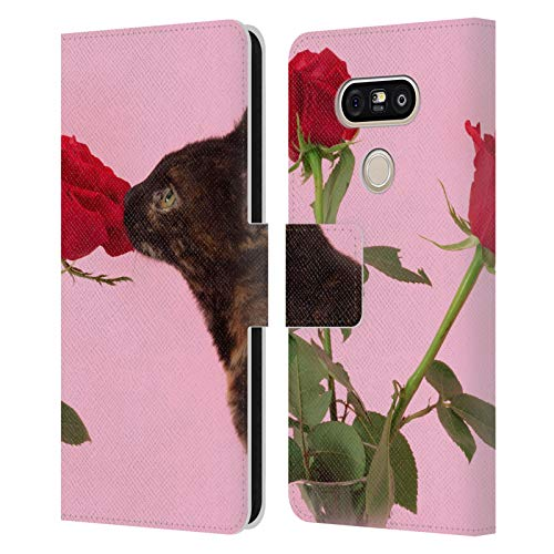 Head Case Designs Officially Licensed Pepino De Mar Cat Rose Pets 2 Leather Book Wallet Case Cover Compatible with LG G5 SE / G5 Lite