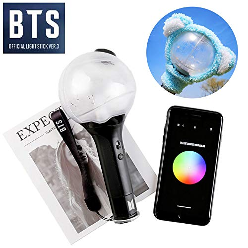 KPOP BTS Light Stick mit Bluetooth Ver.3 inoffiziell Army Bomb Bangtan Boys Concert Lamp Lightstick (mit Bluetooth)(Mit Plüschlampenschirm)
