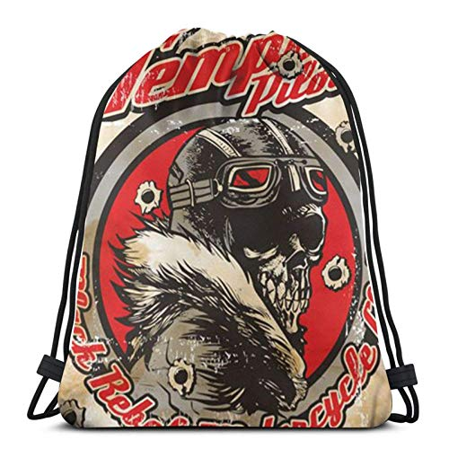 asdew987 Drawstring Bags St-One T-EMP-Le Pilots Unisex Drawstring Backpack Sports Bag Rope Bag Big Bag Drawstring Tote Bag Gym Backpack In Bulk
