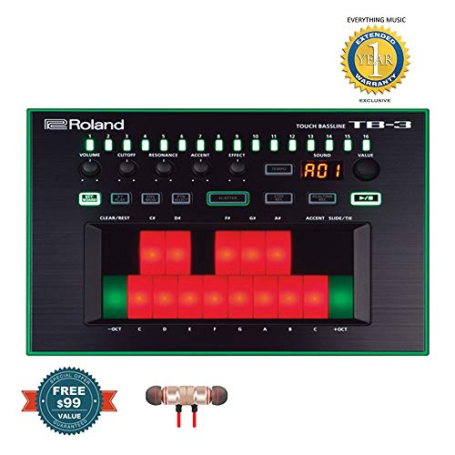 Buy Discount Roland Touch Baseline Performance-Ready Bass Synthesizer TB-3 includes Free Wireless Ea...
